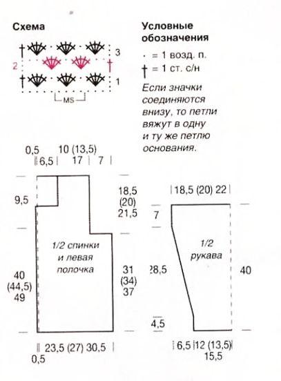 Вязание для полных из мохера схемы