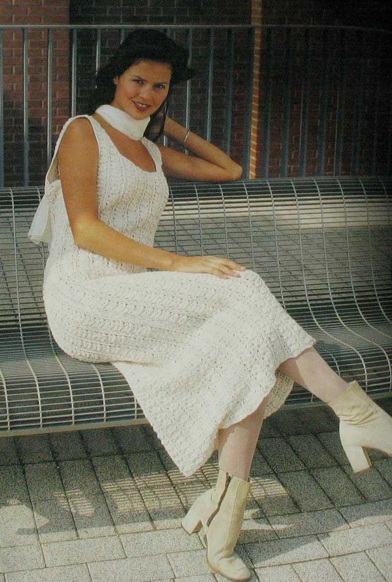 Нарядное платье крючком. 90768