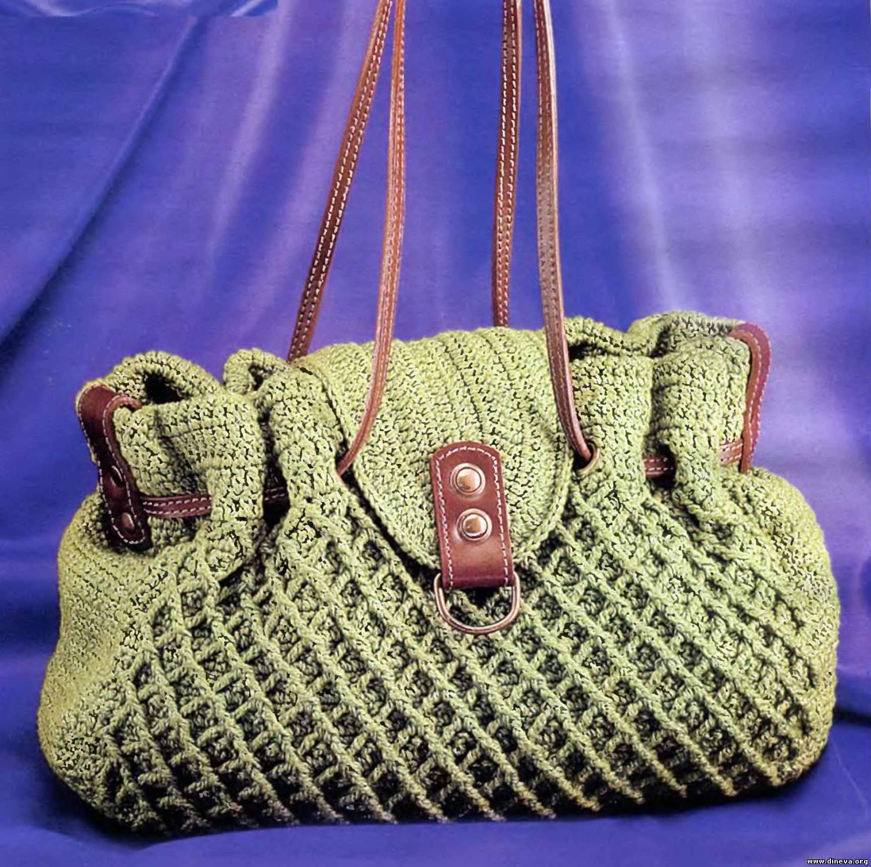 Вязанная крючком сумочка своими руками