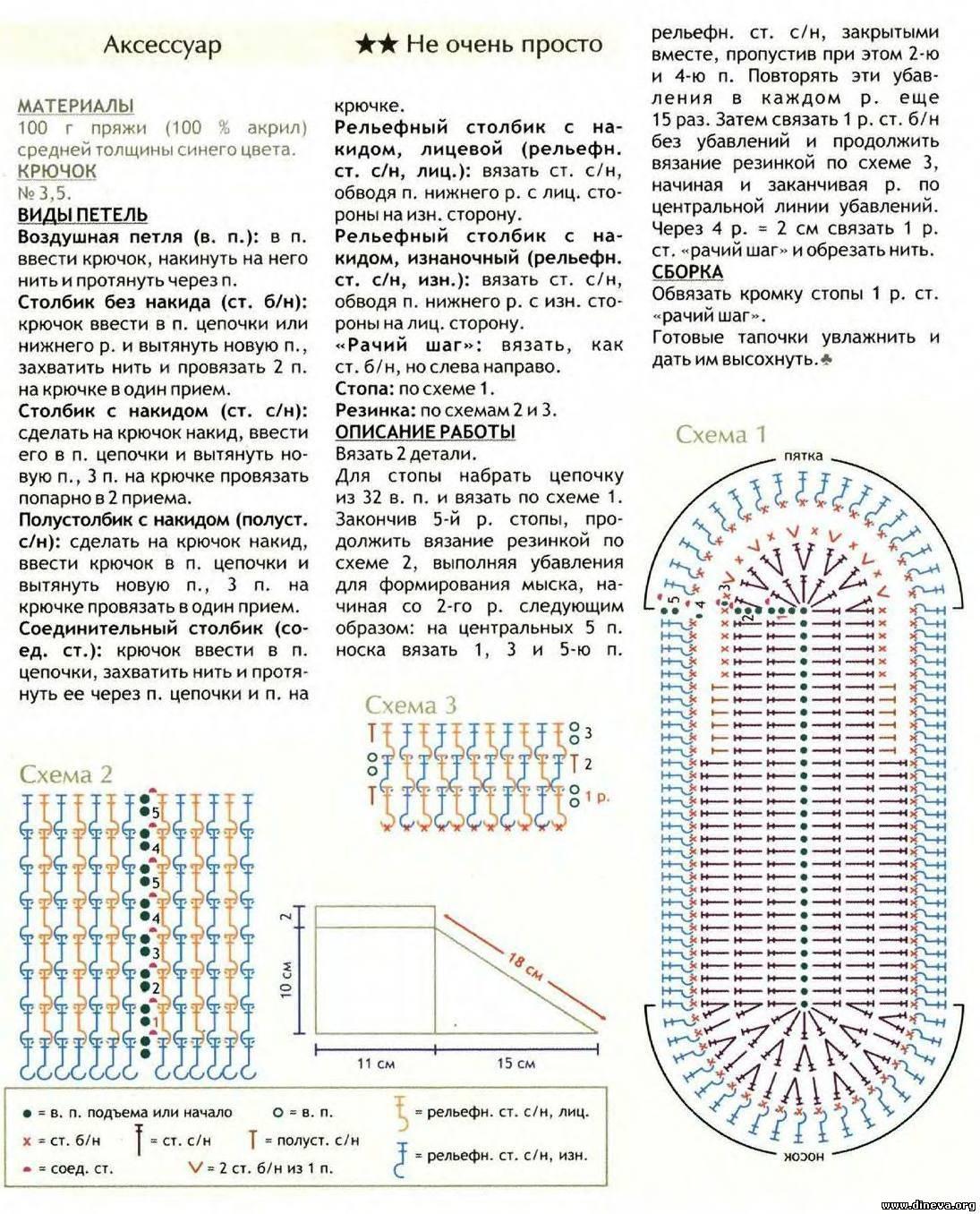 Тапочки и сапожки крючком схемы и описание